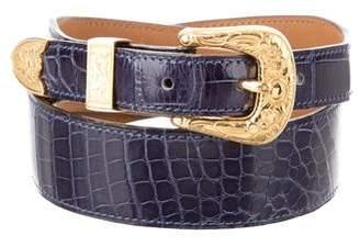 Hermes Vintage Alligator Western Waist Belt