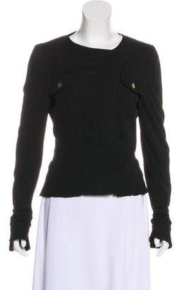 Gucci Pleated Zip-Up Jacket