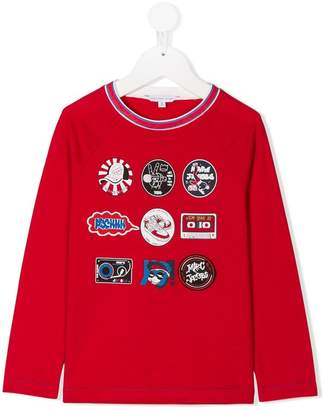 Little Marc Jacobs logo badge print T-shirt