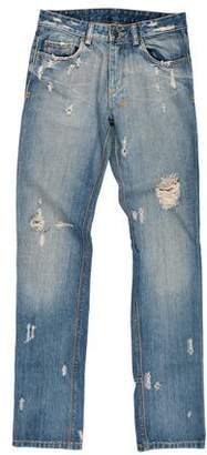 Ksubi Mid-Rise Distressed Jeans