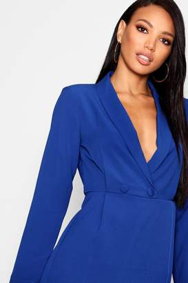 boohoo Double Breasted Tuxedo Playsuit