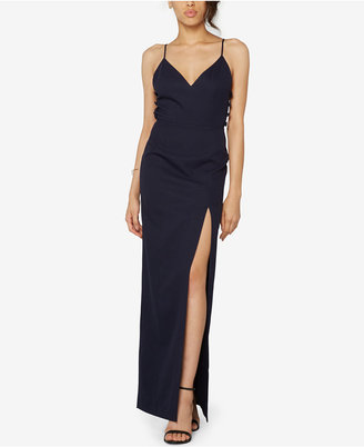 Fame and Partners Crepe Laced Side Gown $249 thestylecure.com