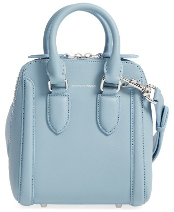Alexander McQueen Alexander Mcqueen Small Heroine Leather Satchel - Blue