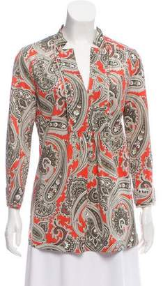 Etro Printed Long Sleeve Tunic
