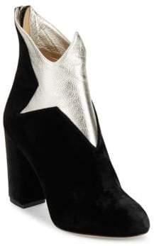 Charlotte Olympia Galactica Two-Tonal Leather Boots