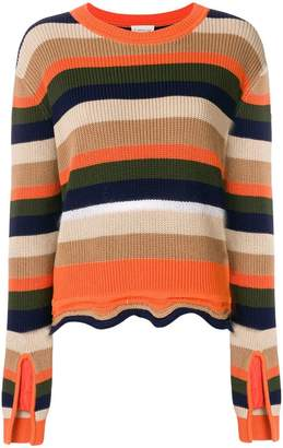 Moncler striped fitted sweater