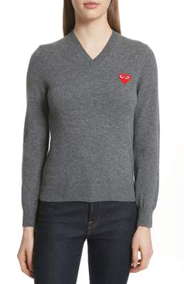 Comme des Garcons Wool V-Neck Sweater