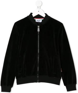 Moschino Kids TEEN zipped sweater