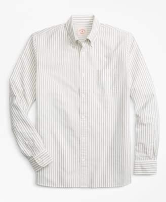 Brooks Brothers Striped Cotton Oxford Sport Shirt