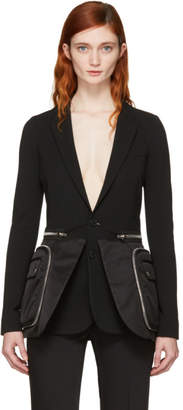 Givenchy Black Oversized Pocket Blazer