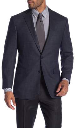 Brooks Brothers Charcoal Blue Solid Two Button Notch Lapel Classic Fit Sport Coat