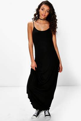 boohoo Tall Bella Low Back Maxi Dress