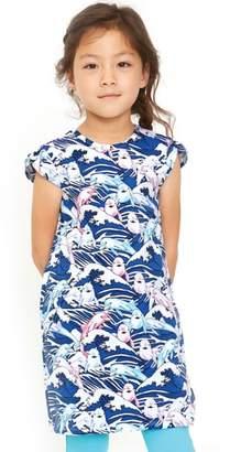 art & eden Ivy Great Waves Print Dress