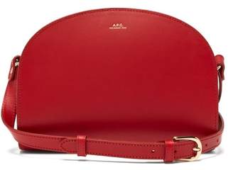 A.P.C. Half Moon Leather Cross Body Bag - Womens - Red