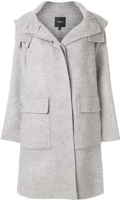 Theory button-down fitted coat
