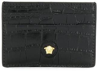 Versace crocodile-effect Medusa motif cardholder