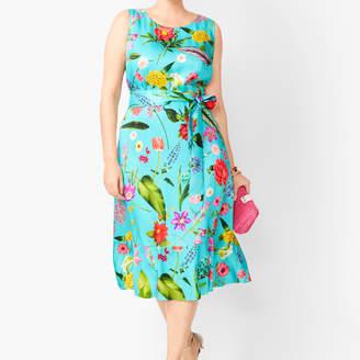 Talbots Floral Soft Fit & Flare Dress