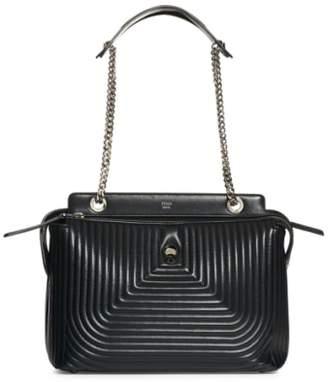 Fendi DOTCOM Quilted Lambskin Leather Shoulder Bag