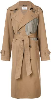 Maison Margiela contrast panel trench coat