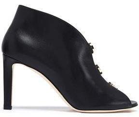 Jimmy Choo Lorna 85 Cutout Embellished Leather Ankle Boots