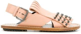 Marni studded fringed sandals