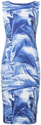 Nicole Miller printed fitted dress