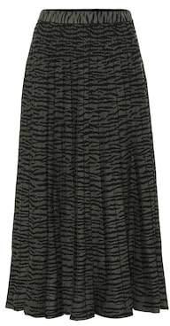 Proenza Schouler Leopard pleated knit skirt