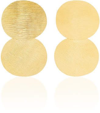 Annie Costello Brown 18K Gold-Plated Earrings