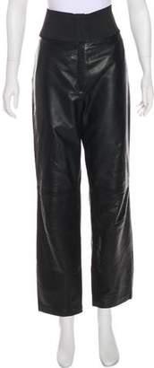 Alaia High-Rise Leather Pants