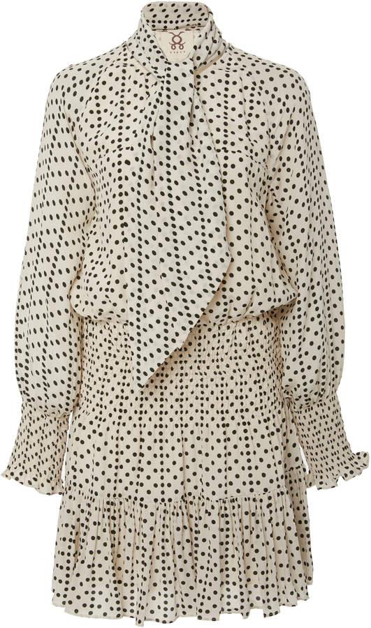 Figue Carlita embroidered silk mini dress