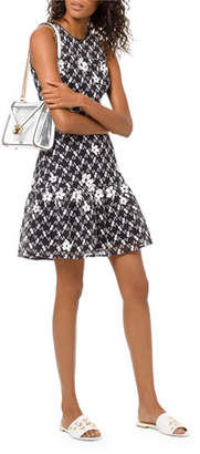 MICHAEL Michael Kors Sleeveless Floral-Embroidered Mesh Dress