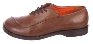 Henry Beguelin Leather Round-Toe Oxfords