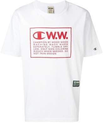 Wood Wood Champion X logo print T-shirt