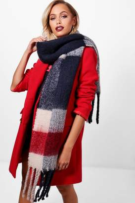 boohoo Brushed Chunky Check Scarf