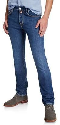 Jacob Cohen Men's Washed Denim Straight-Leg Jeans