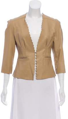 Rebecca Taylor Scalloped Leather Blazer