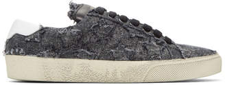 Saint Laurent Black Court Classic California Sneakers