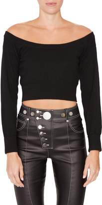 Alexander Wang Illusion Cropped Sweater