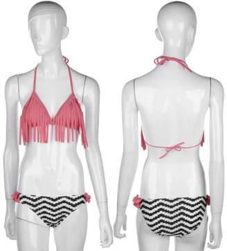 TRY Hot Sale Summer Sexy Female Low Waist Sexy Women Bandage Pushing-up Bikini Set Padded Bra Fringed Swimsuit Swimwear Bikinis Set