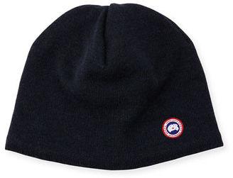 Canada Goose Merino Wool Fleece-Lined Beanie $60 thestylecure.com
