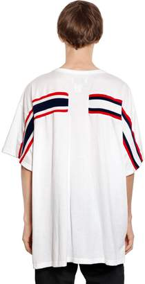 Facetasm Oversized Jersey T-Shirt W/ Knit Band