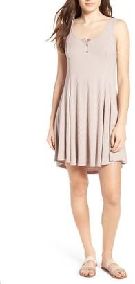 Women's Lush Ribbed Skater Dress $39 thestylecure.com