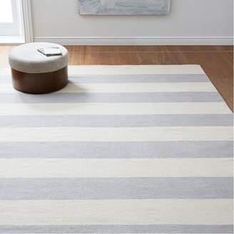 west elm Bold Stripe Cotton Rug - Platinum