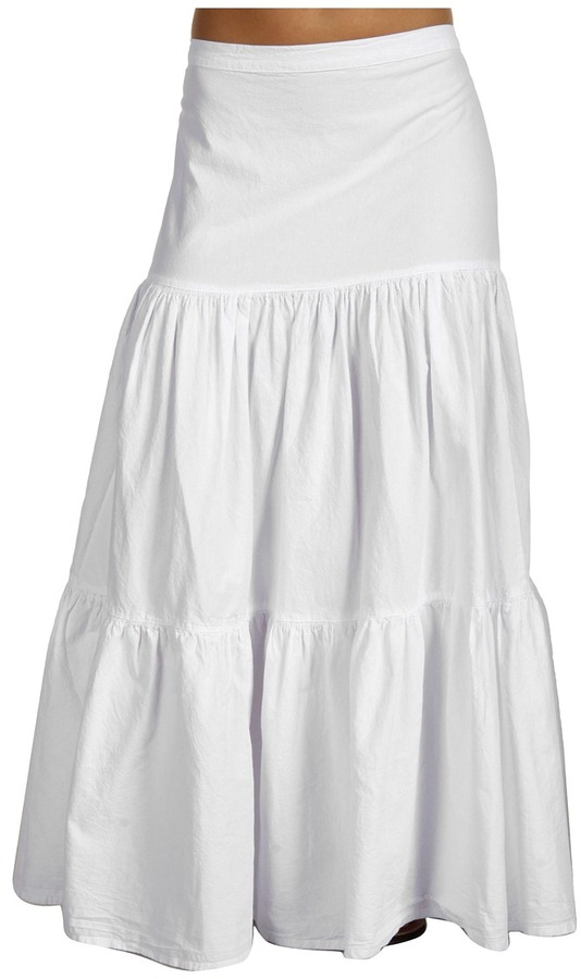 Scully Cantina Ladies 3 Tiered Skirt (White) - Apparel