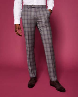 Ted Baker DORLNT Debonair slim fit checked wool suit trousers