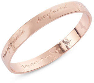 Kate Spade Bridesmaid 12K Rose Gold Bangle