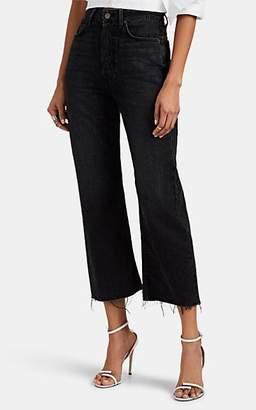 GRLFRND Women's Bobbi Distressed Wide-Leg Jeans - Black