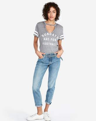 Express Sundays Are For Football Cut-Out Choker Tee