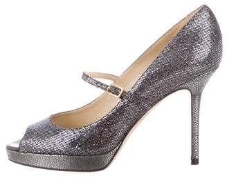 Jimmy Choo Amina Peep-Toe Pumps