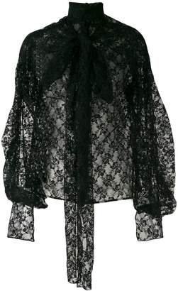 Christopher Kane bow lace blouse